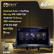 EKIY 4G LTE IPS DSP Android 10 автомобильный радиоприемник мультимедийный плеер 6G + 128G для Renault Megane 3 2008-2014 GPS-навигация Carplay BT DVD
