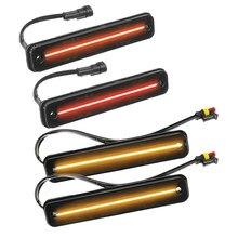 4 adet araba duman Lens F & R LED yan Marker işık kırmızı ve sarı için Fit Hummer H2 2003-2004 2005 2006 2007 2008 2009 25952319 15114677