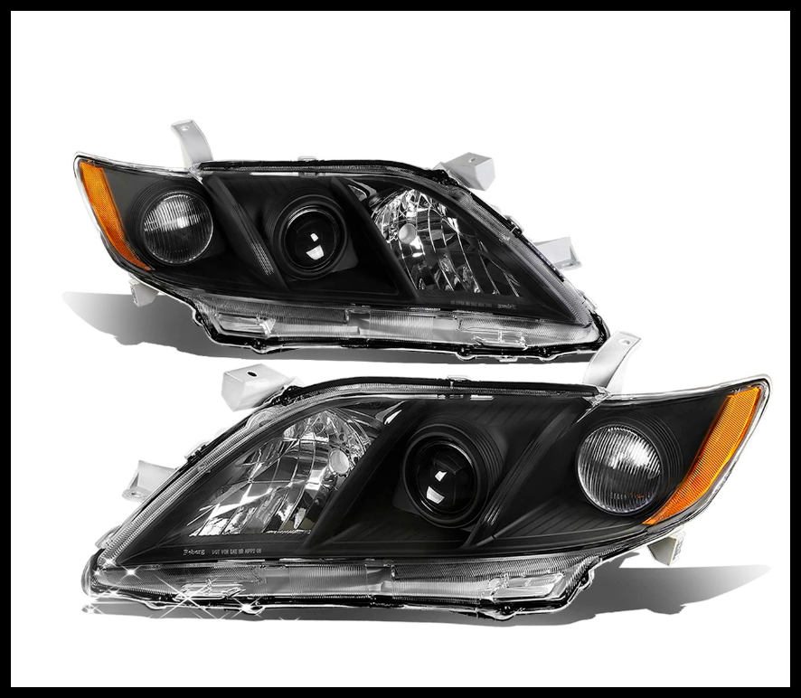Sulinso For 2007~2009 Toyota-Camry Headlights Headlamps Lights Lamps Replacement Driver & Passenger Side