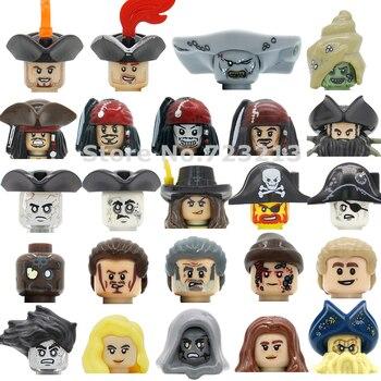 Single Pirates Of The Caribbean Figure Head Salazar Revenge Captain Jack Carina Smyth Henry Lesaro Building Blocks Toys
