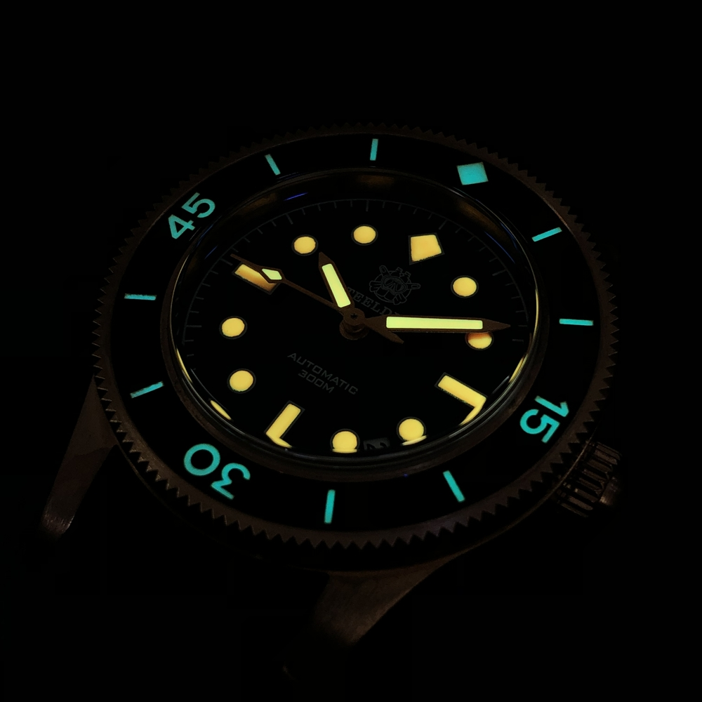 Мужские часы для дайвинга steeldive sd1952s черный циферблат