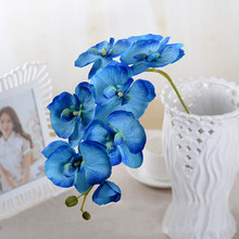 7 Heads Artificial Flowers Real Touch Moth Orchid Butterfly For New House Home Wedding Festival Decoration
