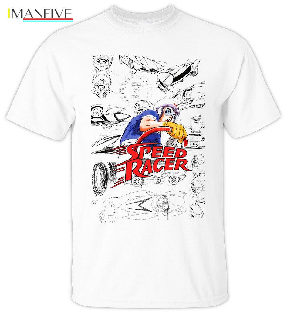 ANIME SPEED RACER V1 Tatsuo Yoshida 1967 T Shirt WHITE All sizes S 5XLCartoon t shirt men Unisex New Fashion tshirt free in T Shirts from Men 39 s Clothing