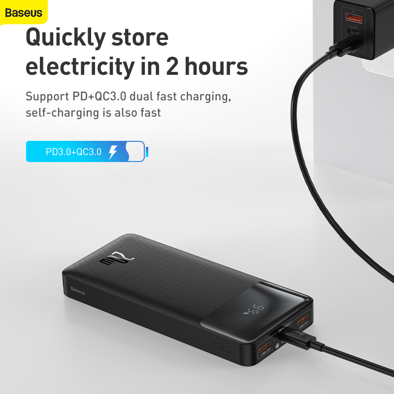 Baseus Power Bank 10000-30000mAh Portable Charging Powerbank 4