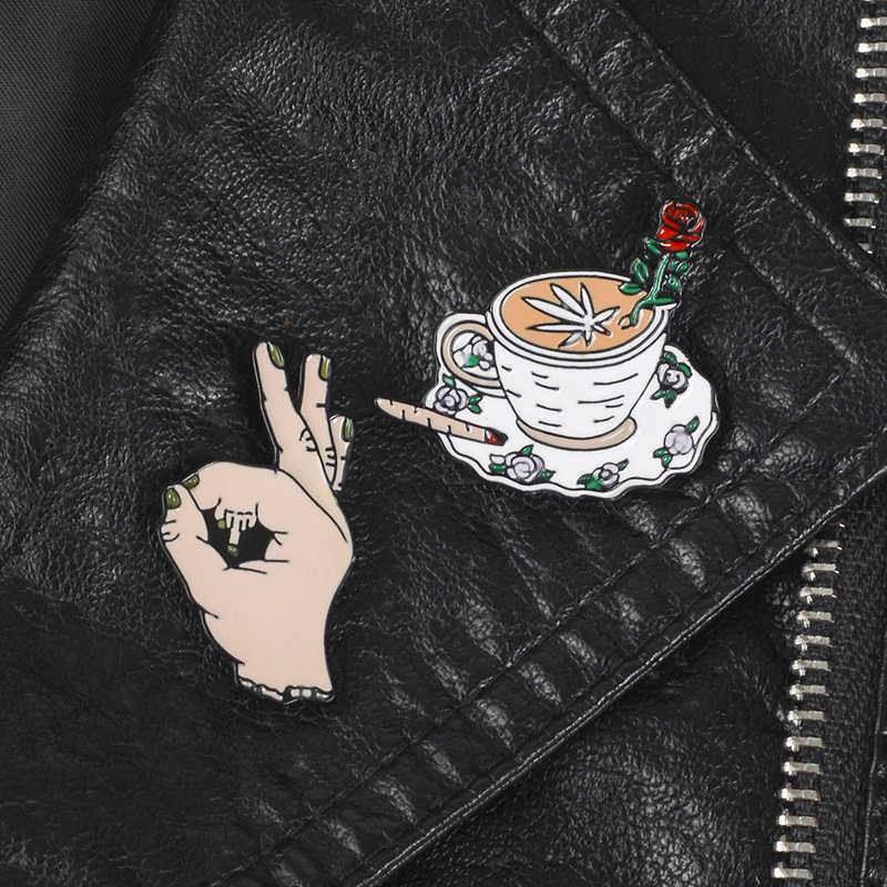 الإبداعية التلبيب دبابيس معدنية البسكويت النسوية لفتة القهوة زهرة لهب دبابيس شارات الملابس دبابيس مجوهرات هدايا للأصدقاء