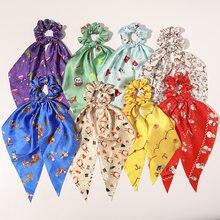 Рождественские резинки для волос Длинная лента резинка хвоста