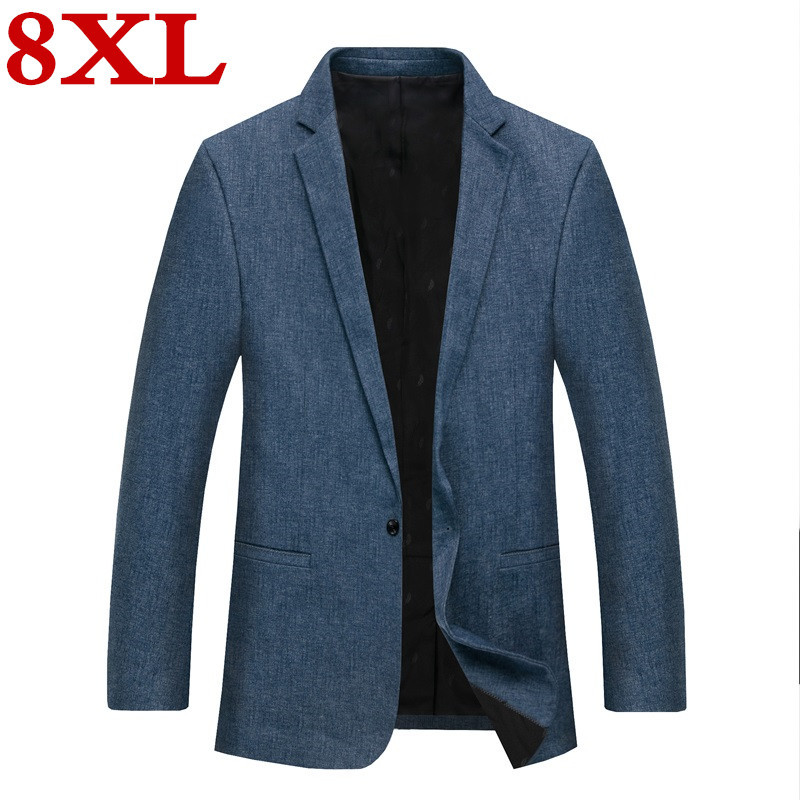 Plus Size 8XL 7XL 6XL New Casual Suit  For Middle-aged Men High Quality Spring And Autumn Suit Jacket Men Jackets And Blazers