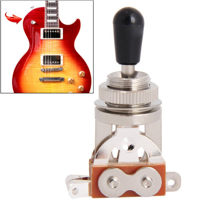 3-Way Electric Guitar Pickups Toggle Selector Switch Parts Chrome With Knob Guitar Parts Accessories Switch Guitar New