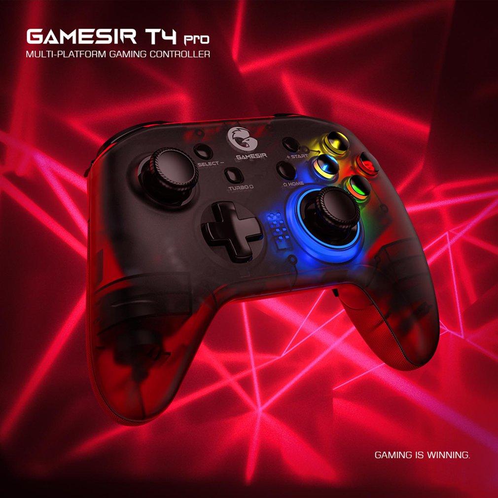 Беспроводной игровой контроллер Gamesir T4pro, геймпад для Apple, светодиодный контроллер для переключения игр с турбо-кнопкой, с вибрацией