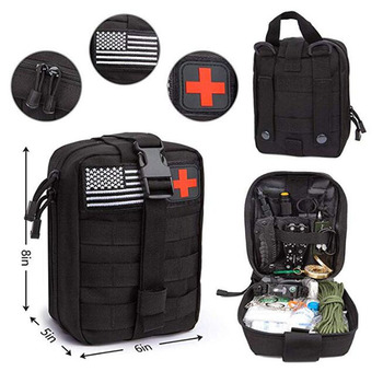 47 IN 1 Emergency Survival Kit Survival First Aid Kit SOS Tactical tool Flashlight Knife with Molle Pouch for Camping Adventures 6
