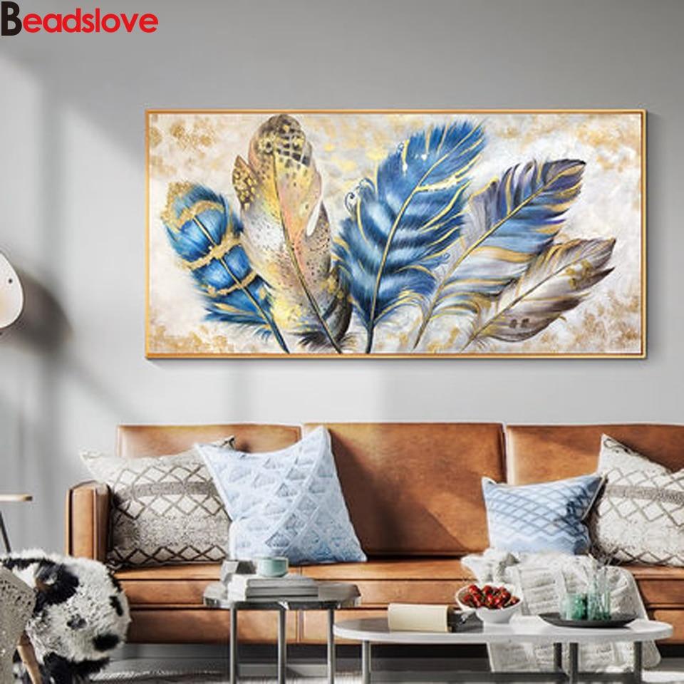 diy 5D diamond mosaic abstract feather diamond painting cross stitch 3d diamond embroidery sale full drill home decor