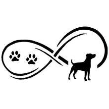 Реалистичная Автомобильная наклейка копье Джек Рассел собачья