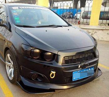 Universal Matt Black FRP Side Body kit Bumper Lip Splitter Apron for Volkswagen VW Passat Polo Scirocco Golf
