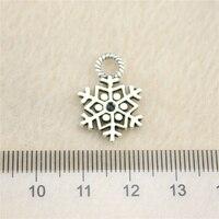 Sales Retail 1 Piece 20x14mm Snowflake Charms Pendant Charm Jewellery