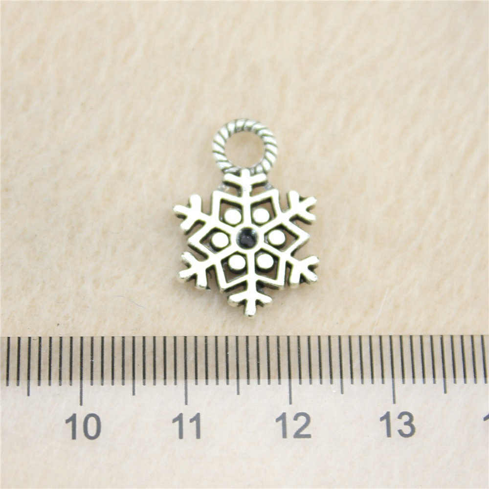 Sales Retail 1 Piece 20x14mm Snowflake Charms Pendant Charm Jewellery