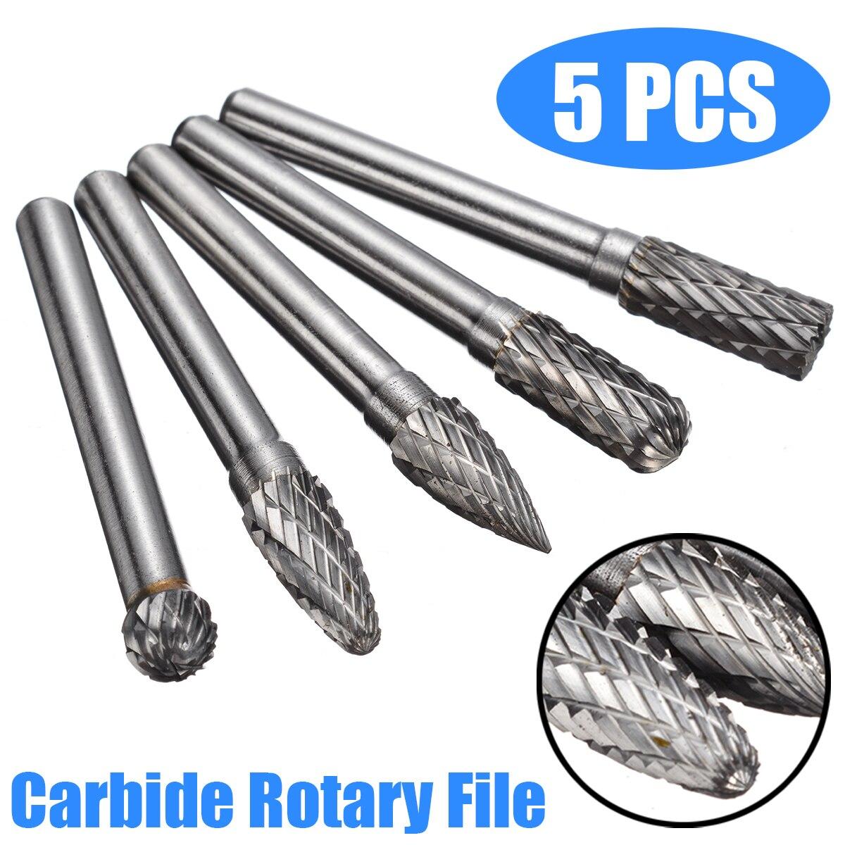 8MM Head Tungsten Carbide Rotary Point Burr Burs Die Grinder 6mm Shank Tools