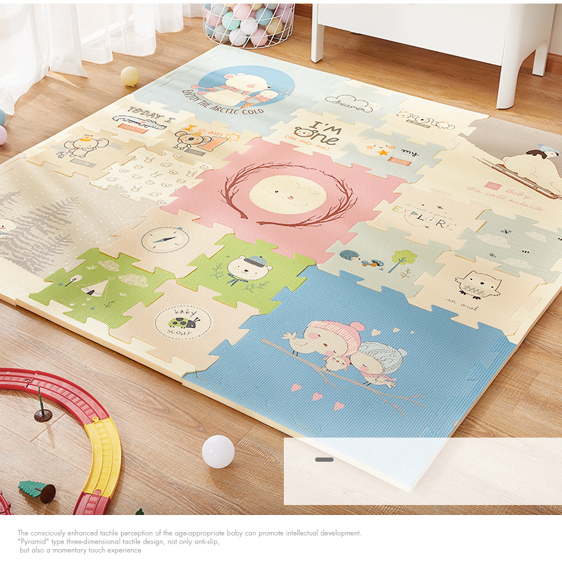 H4f6fea7e8068411db8e077040ff7bf22J BabyGo Puzzle Baby Play Mat XPE Foam Waterproof 2cm Thickened children's Carpet Crawling Pad Living Room Activity Floor Mat