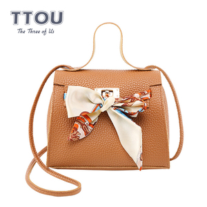 TTOU Fashion Women Bow Scarf Messenger B