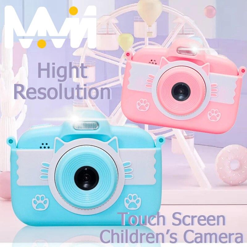 Миниатюрная детская игрушечная камера 3,0 дюйма 18 МП Full HD цифровая камера с силиконовым чехлом ЖК-экран дисплей детская камера для рождестве...