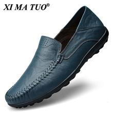 Genuine Leather Men Shoes Casual Luxury Brand Formal Mens Loafers Moccasins Italian Breathable Slip on Male Boat Shoes Plus Size