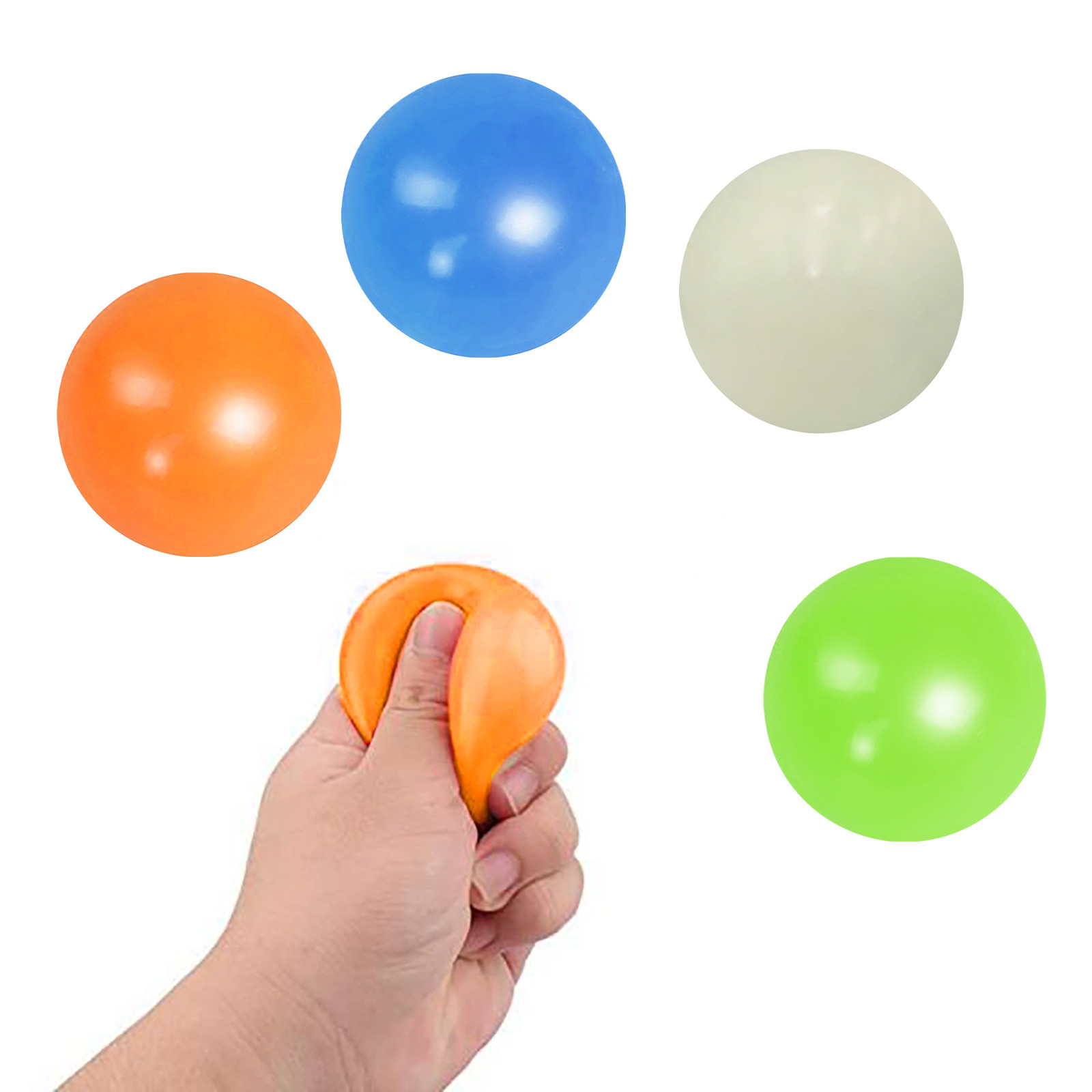 Fun Toy Fidget-Toys Decompression-Toys Wall-Ball Gift Sticky Adult Luminous Kids 70MM img5