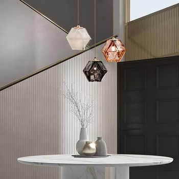 Nordic modern simple creative glass restaurant 15cm chandelier bar bedroom bedside front desk Art E14 86-260V - DISCOUNT ITEM  15 OFF Lights & Lighting