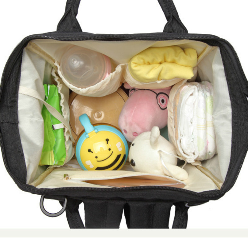 LEQUEEN Diaper Bag Multi-Function Large-Capacity Mommy Bag Fashion Mother's Bag Mummy Backpack travel stroller Diaper Backpack
