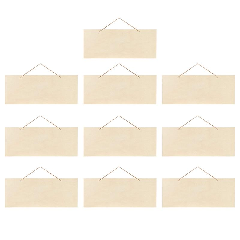 Необработанный Подвесной деревянный знак, прочный чистый деревянный налет для рукоделия, 10 шт., 25 х10 см