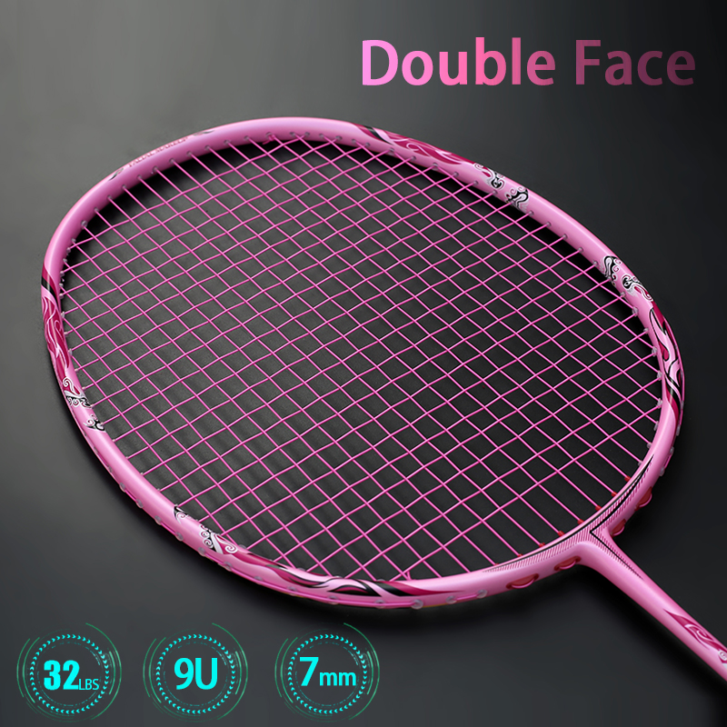 Super Light 9U 57-59G Full Carbon Fiber Badminton Racket Strung Professional Rackets With Strings Bags G5 Offensive Type Racquet