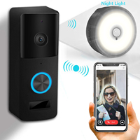 Smart Wireless Wifi Video Doorbell Intercom Phone Call Door Bell Camera Infrared Remote Record Security Monitoring +32G Storage