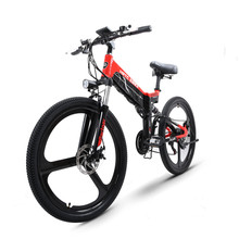 Custom 26inch folding electric mountain bicycle 48V 500W high speed ebike lithium battery Travel assisted electric