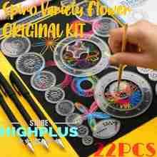 22Pcs Spirograph Drawing Toys Set Interlocking Gears & Wheels Geometric Ruler Drawing Accessories Creative Educational Kids Toy