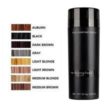 Подлинная 1 бутылка кератина для выпадения волос строительные волокна + аппликатор спрей + 27,5 г оптимизатор волос Густой органический рост в...