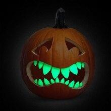 2019 di trasporto del NUOVO Creativo CALDO di 18 led di Halloween FAI DA TE a nido dape set Kit Set di 18 Glow In The Dark Buck Denti cucina lampion set