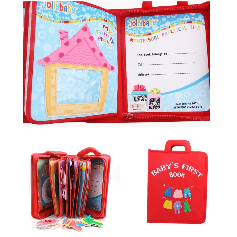 Fait à la main Montessori mon espace livre bébé éducation précoce premier calme feutre livre 26.5x22cm maman bricolage image livre feutre livre de bébé - 4