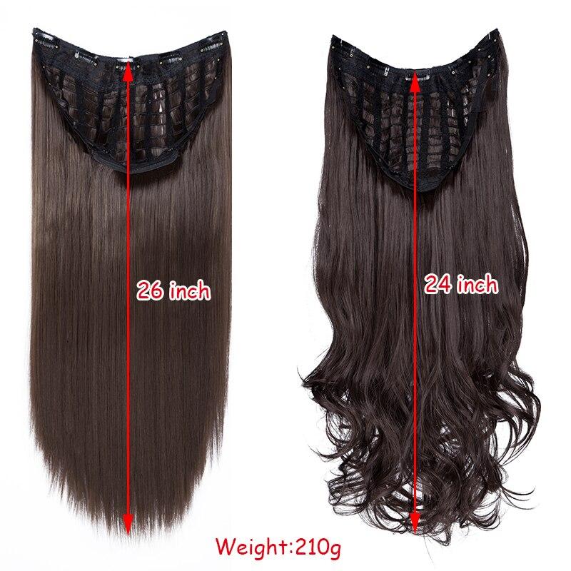uma peça extensão do cabelo sintético para