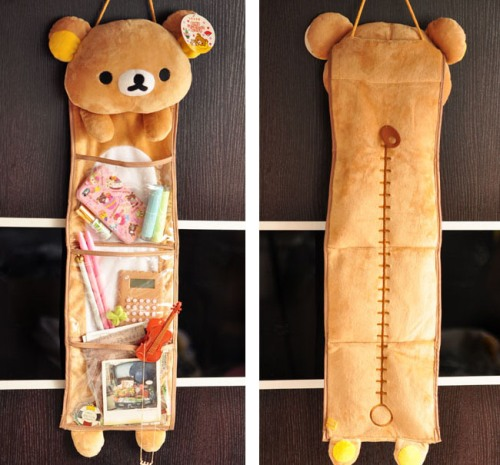 Japan Cartoon Rilakkuma Relax Bear Plush Toy Cute Long Hanging Kawaii Storage Bag Girl Creative Gift Home Decor