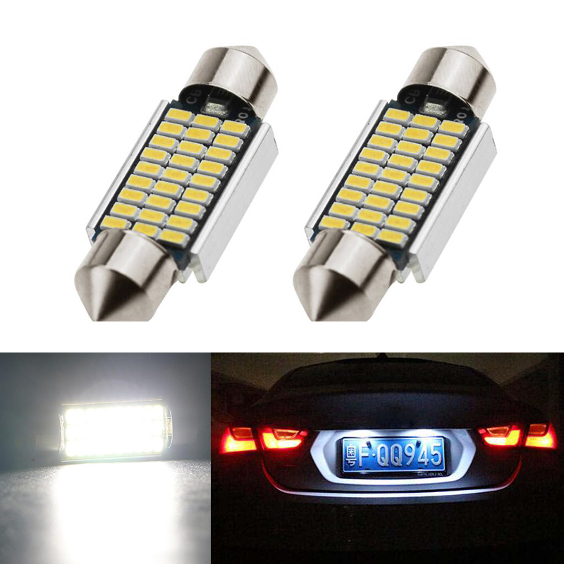 2x CANbus <font><b>LED</b></font> 36mm C5W <font><b>Lamp</b></font> Bulb Registration Number Plate License Light For <font><b>Renault</b></font> <font><b>Megane</b></font> <font><b>2</b></font> image