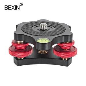 Image 5 - Stativ Schnelle Nivellierung Basis Leveler Anpassung Basis Panning Ebene Platte mit Wasserwaage für Canon Nikon DSLR Kamera Stativ