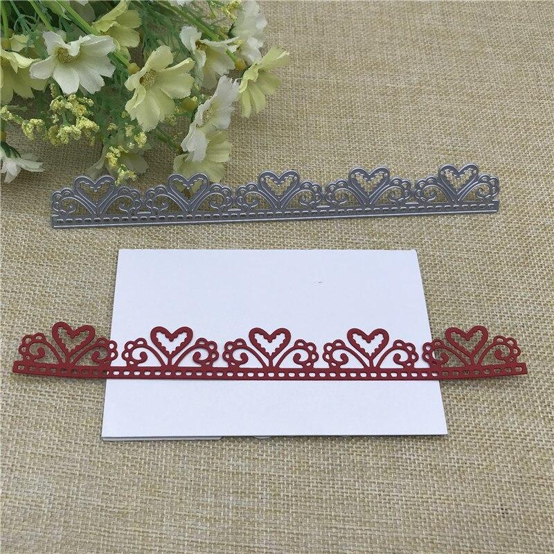 Love Lace Frame Metal Dies Scrapbooking Metal Cutting Dies Craft Stamps Die Cut Embossing Card Make Stencil Frame