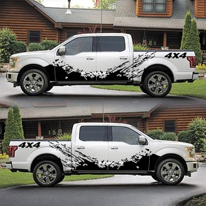 Image 5 - For D MAX Navara Car Sticker 2PCS 4x4 Off Road Graphic Vinyl Decals & Stickers Pickup Truck Decal Styling Accessories for Dodge