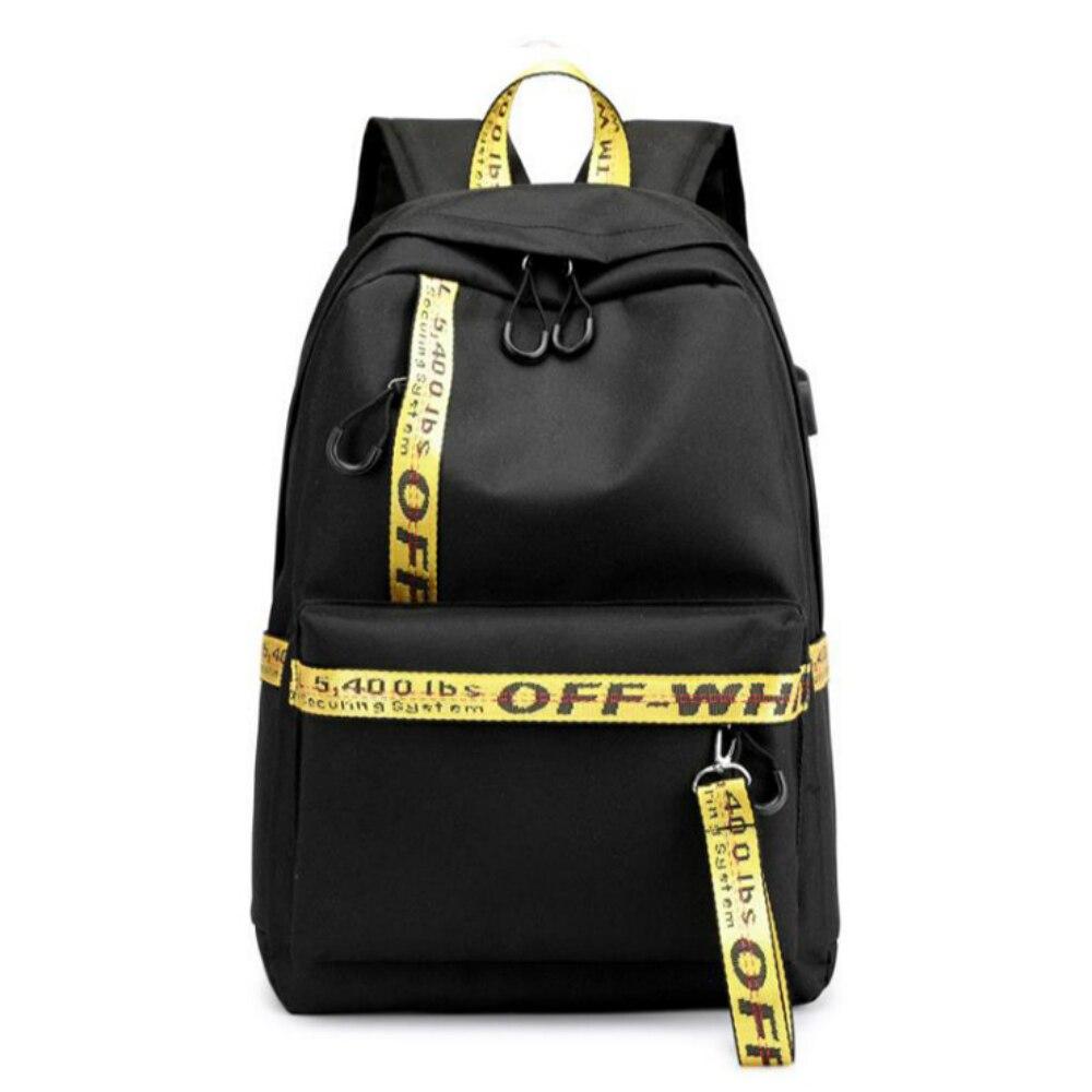 Waterproof Fabric Women USB Charging Backpack Casual Printing School Backpack Bag For College Girl Ladies' Laptop Travel Bag Sac