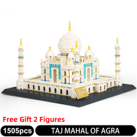 5211 1505PCS World Famous Classic Architecture Building Blocks Taj Mahal,Agra of India 3D Model Bricks Sets Children Toy Gifts