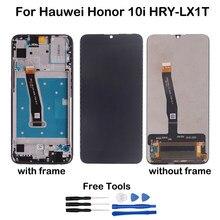 Original para huawei honor 10i display lcd touch screen digitador assembléia peças de reparo para huawei honor 10i HRY-LX1T lcd