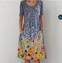 Women's A-Line Dress Midi Dress-Sleeveless Pocket Summer Basic Holiday Printed Long Maxi Dress Strawberry Plus Size Clothes