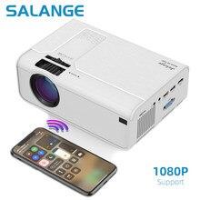 Salange hd mini projetor p60 3600 lumens 720p led filme vídeo beamer suporte de cinema em casa 1080p opcional android wifi bluetooth
