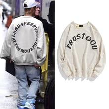 Justin Bieber kazak pazar servis Vintage Hip Hop erkekler Stranger şeyler streetwear uzun kollu Hoodie tişörtü kadın