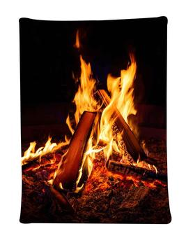 Simsant Flame Tapestry Bonfire Party Decoration Winter Snow Art Wall Hanging Tapestries for Living Room Home Decor Banner