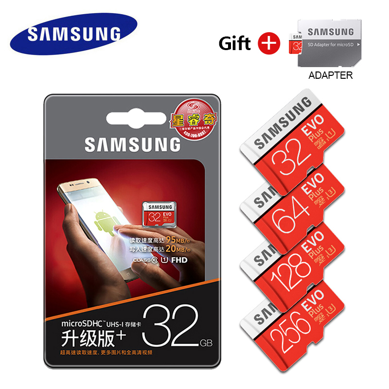 Image 5 - Original Samsung EVO 32GB 64GB 128GB SDHC mini Carte Memoire C10 64GB SDXC U3 Cartao SD safe for Smartphone Memory Flash drive-in Micro SD Cards from Computer & Office