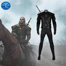 Manluyunxiao Cosplay de Geralt de Rivia, disfraces de Navidad para Halloween, chaquetas para adultos, accesorios